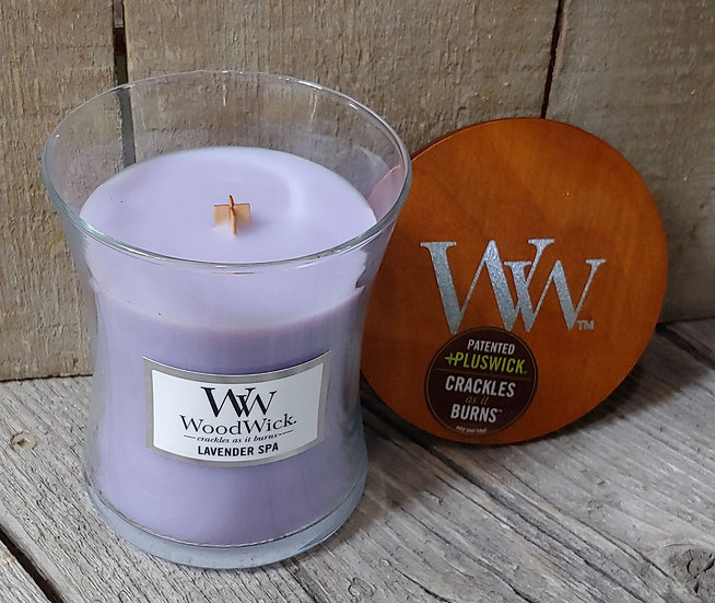 WoodWick Candle -9.7 oz - Lavender Spa