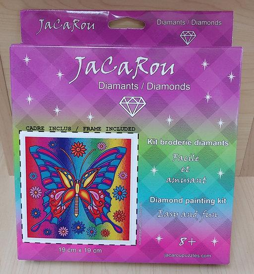 Butterfly 19cm x19 cm Diamond Painting Kit