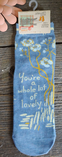 You're a whole lot of lovely. - Ladies Ankle Socks