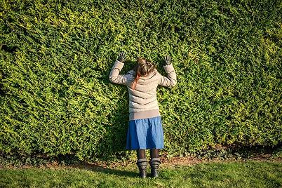 De dos dans le mur vert - Photo by Thomas Dorleans