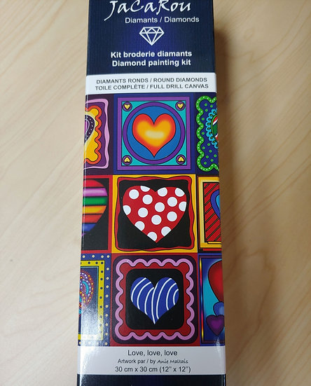 Love, Love, Love Diamond Painting Kit