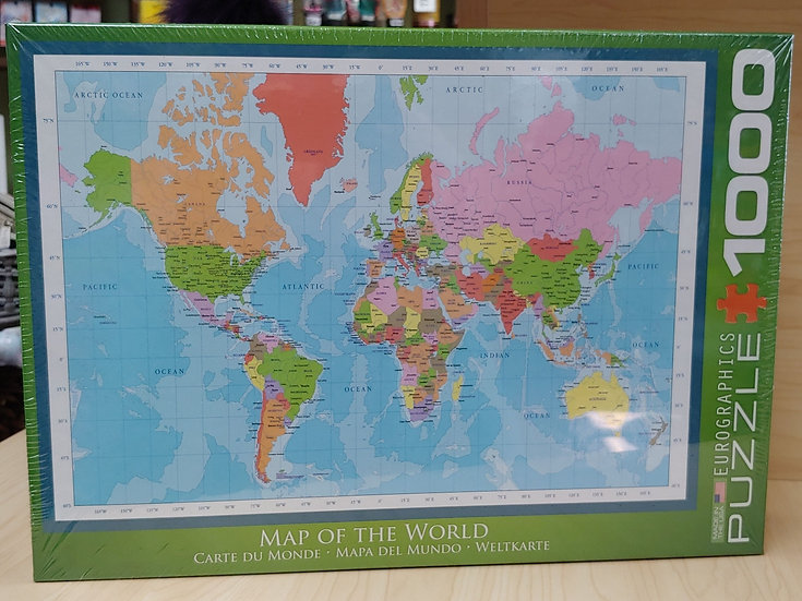 Map of the World-1000 PC puzzle