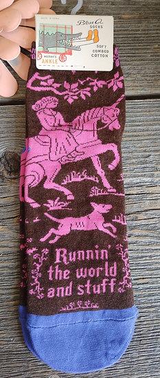 Running the World- Ladies Ankle Socks