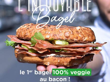 LE 1ER BAGEL 100% VEGGIE AU BACON PAR BAGEL CORNER