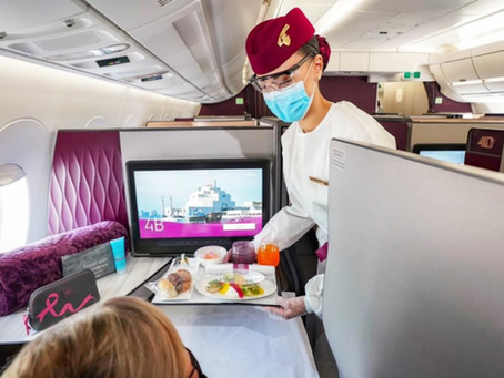 QATAR AIRWAYS PROPOSE SON PREMIER MENU VEGAN