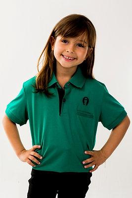 Polo Unissex Malha Infantil Verde