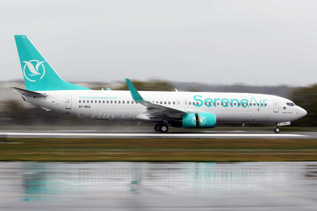 Serene Air's first Aircraft arrives in style to Pakistan