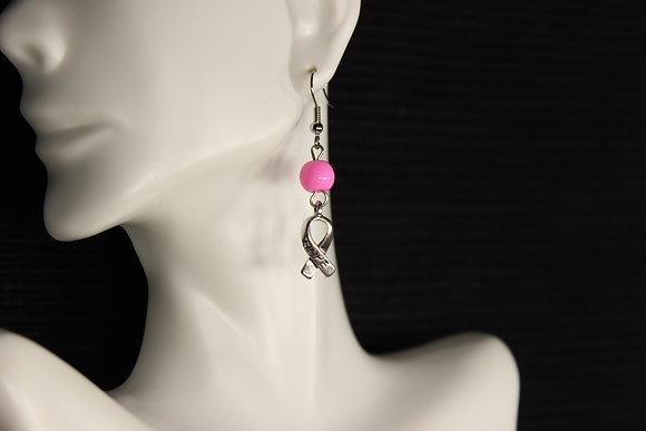 E-160021 Pink Bead/Hope Ribbon