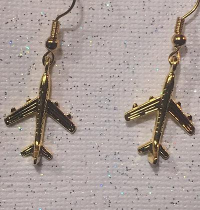 EA-180107 Gold plated Com Jet earrings