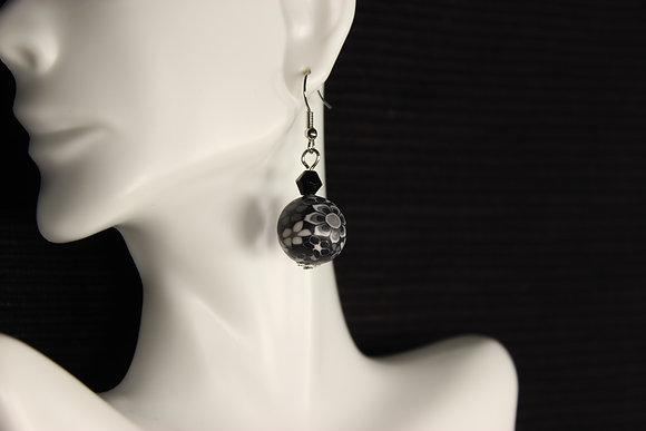 E-160029 Black Polymer Clay Bead