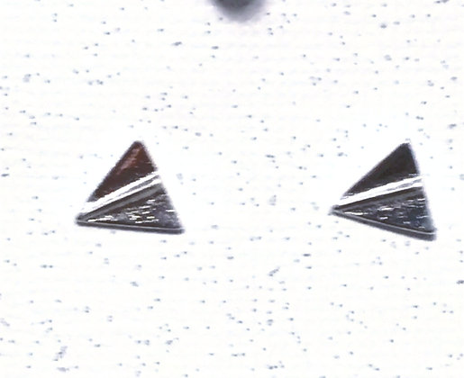 EA-200056 Tiny silver Paper Airplane post earrings