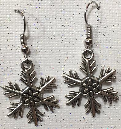 E-180111 Silver Snowflake earrings