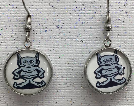 EAO-190113 Gremlin epoxy logo -Earrings