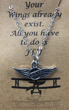 NA-160014 Wings Pilot - Necklace