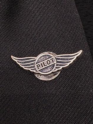 TA-160015 Slvr Pilot Wings Tie Tack
