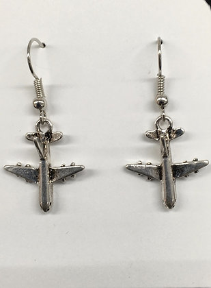 WEA-160038 (50) Small Plane Jet Earrings - 30%