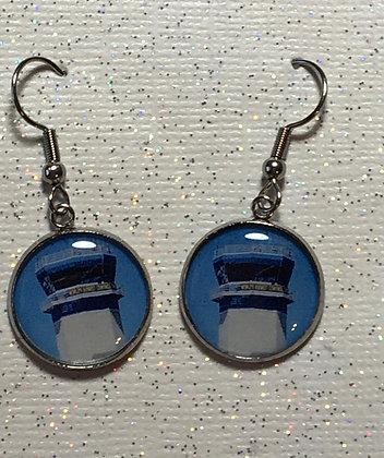EA-160078 Round Oshkosh Tower Earrings