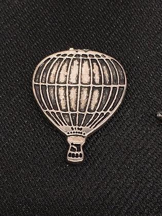 TA-160013 Slvr Hot Air Balloon Tie Tack