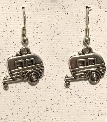E-200029 Silver camper earrings