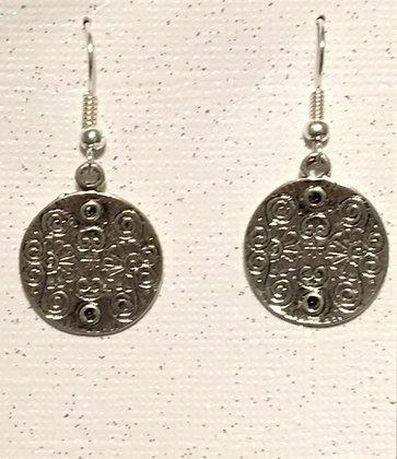E-200026 Silver disc earrings