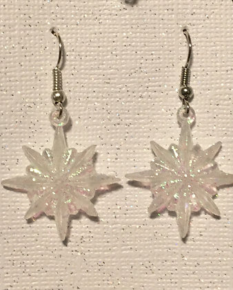 White Snowflake earrings