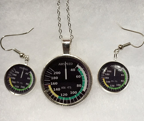 SA-170014 Silver AS Indicator Pendant set
