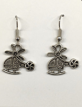 WEA-160018 (75) Small Helicopter Earrings 35%