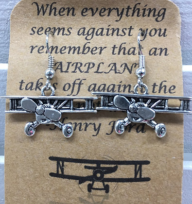 EA-160071 2D Biplane earrings