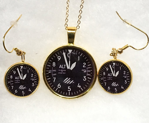 SA-170017 Gold ALT Indicator Pendant set
