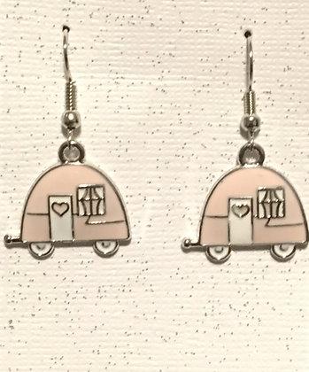 E-200030 Pink camper earrings