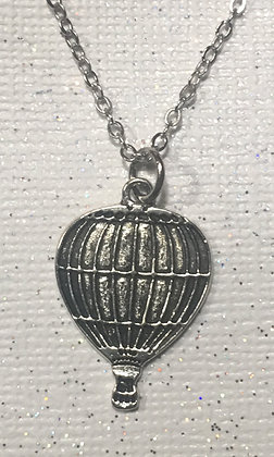 NA-160012 Silver Hot Air Ballon - Necklace