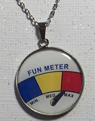 NC-200003 Custom epoxy Fun Meter necklace