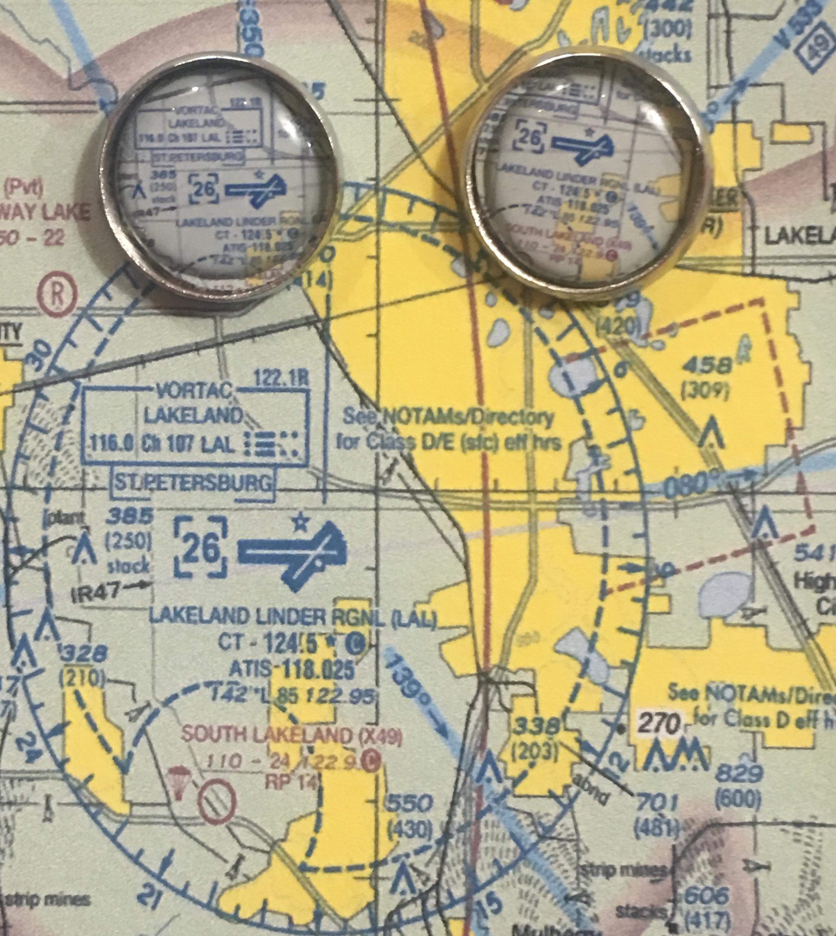 SNF19#1 KLAL Lakeland Linder Chart Post Earrings