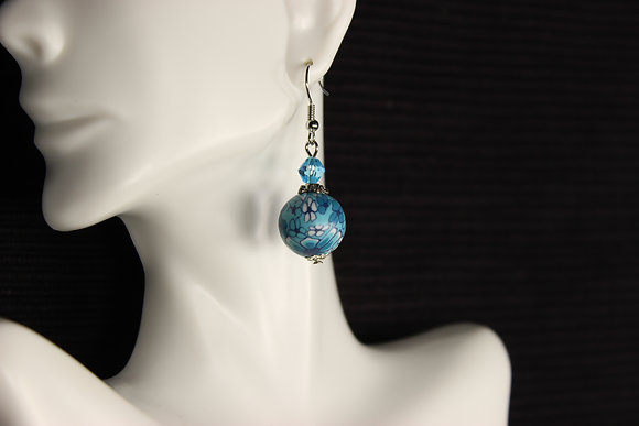 E-160012 Blue Polymer Clay Bead