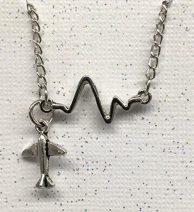 BA-170028 Bracelet heartbeat tiny plane