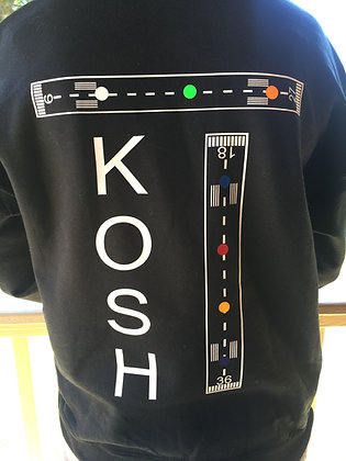 KOSH Black or gray sweatshirts with white, pink or black lettering