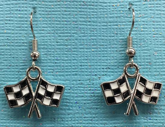 EAO-190029 Checkered Flag - Earrings