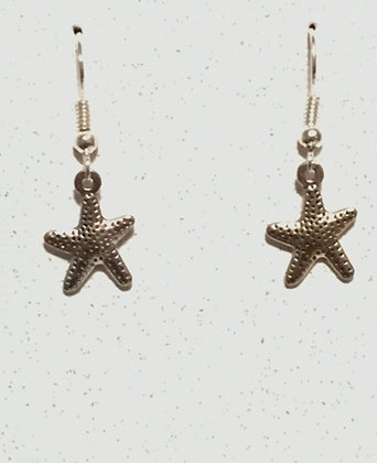 E-200010 Silver Starfish earrings