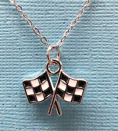 NAO-190087 Checkered Flag - Necklace