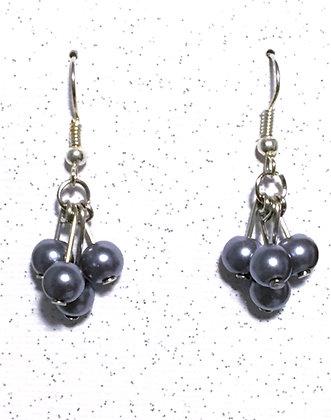 E-200011 Blueberry cluster earrings