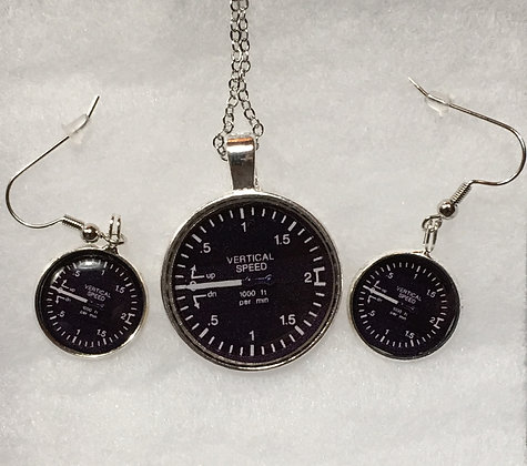 SA-170012 Silver VS Indicator Pendant set