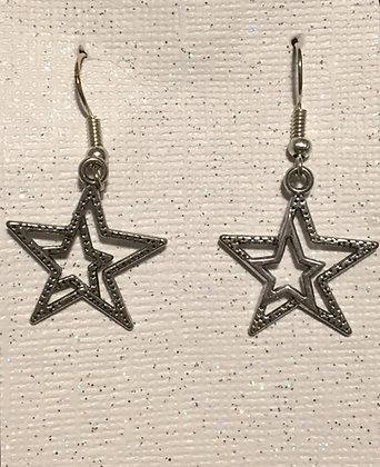E-200021 Silver star earrings