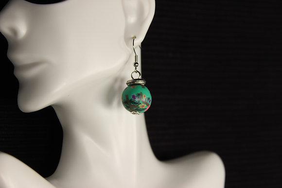 E-160030 Green Polymer Clay Bead