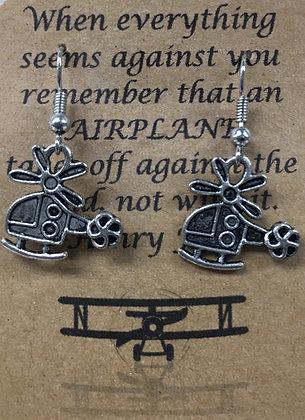 EA-160023 Small Silver Heli Earrings