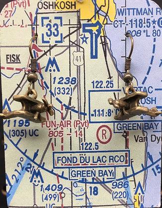 EA-160064 Bronze Biplane - Lakeland card
