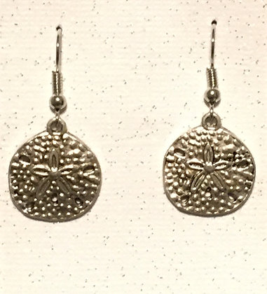 E-2000007 Silver Sand Dollar earrings