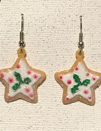 E-200048 Ginger Bread Star Cookie earrings