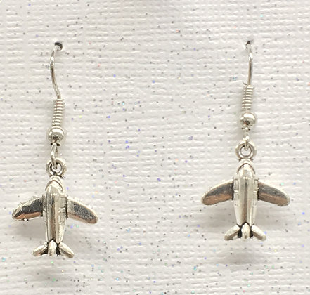 EA-170092 Earrings Tiny Low Wing Jet
