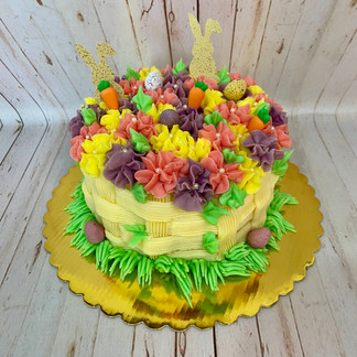 Vanilla Easter Basket Cake
