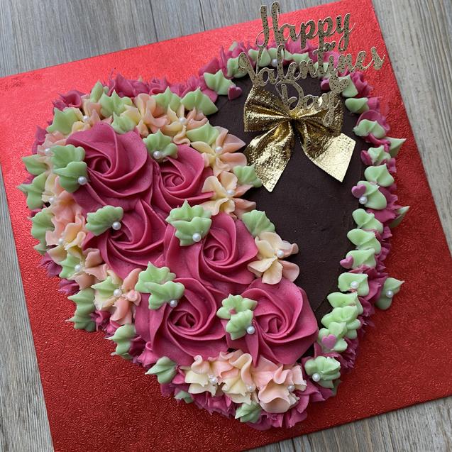 Valentine's Rose Cake
